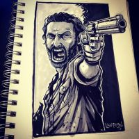 Inktober Day 13: Walking Dead by DerekLaufman