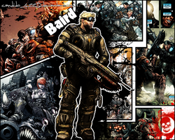 Gears of War - Baird Wallpaper by Candido1225
