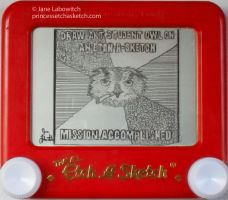 Art Student Owl etch a sketch by pikajane