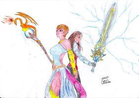 The Blade of Destiny and The Scepter of the Demons by Lady-Scorpion