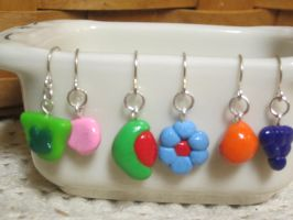 Lucky Charms And Trix Cereal Earrings Pack by colbyjackchz