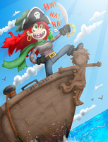 The Red Mermaid Pirate by ZeTrystan