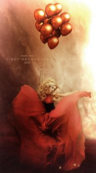 Red balloons by CindysArt