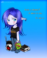Gamer Night Elf - Night Elves Meet 21st Century by Nephiam