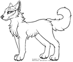 Another Free Canine Lineart by Hohtis