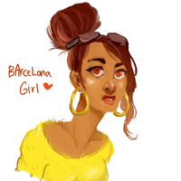 Barcelona Girl by temporaryWizard
