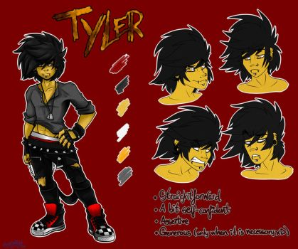 COMMISSION: Tyler Ref Sheet by Mimy92Sonadow
