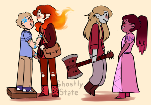 DEH Adventure Time AU by TheStateOfKentucky