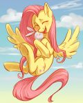 Flattershy with Angel by Lis-Alis