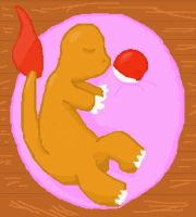 Charmander sleeping by Lion-Oh-Day
