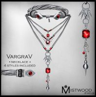 VargraV - Unisex Necklace Garnet Version by Aedil