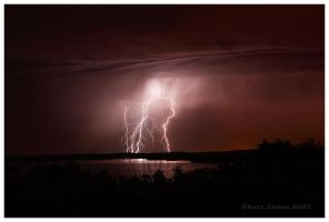 Lightning Over Water by Nate-Zeman