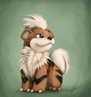 Growlithe by Quindayo