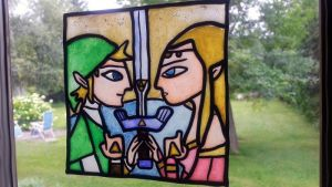Fake Glass Painting Legend of Zelda (tutorial) by NerdEcrafter