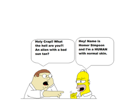 Peter meets Homer!? by kitty55501