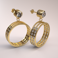 Gold and Diamond Earrings by AnthonyRalano