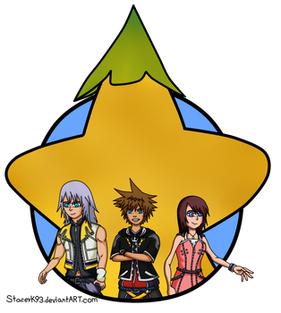 Kingdom Hearts Destiny Trio by Staceyk93