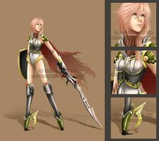 Lightning - humanoid and gladiator design by OathBinder123