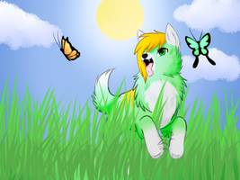 Dancing with Butterflies + Speedpaint by msVuonis