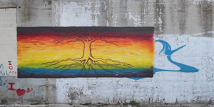 Rainbow flag with tree by seeker-of-revelation