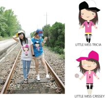 Little Miss Tricia and Crissey by Crissey