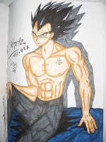 Vegeta's Down Time Colored by DemonofBlood