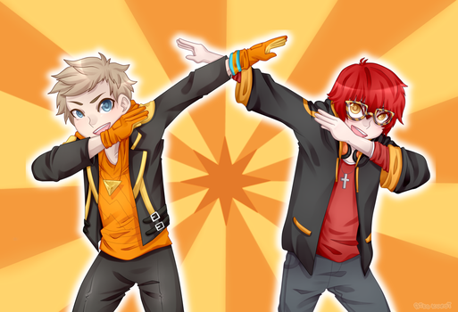 LOOK AT MY DAB // Spark and 707 ::Commission:: by blushingbats
