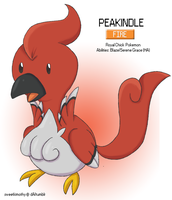 Pokemon Albion Region: #004 Peakindle by sweetkimothy