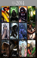 2014 Summary of Art by EjLowell