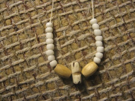 White tribal necklace 2 by thinmintXD
