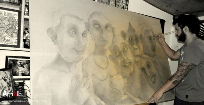 WIP II the joy of being unhappy by anibalarriola