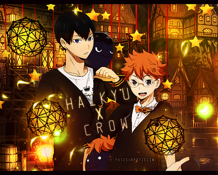 Haikyu and crow by ZeLin789