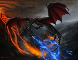Charizard used Dragon Pulse by Phantom-Akiko