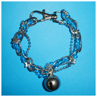 Silver Stars and Blue Beads by Cheila
