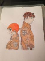 Cywren and Timebomb Attack on Titan by SibunaHOA2