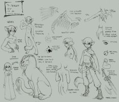 character page of Ty-lineart by kilara