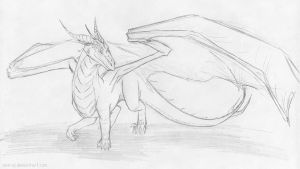 26.08.11 some dragon sketch by axe-ql