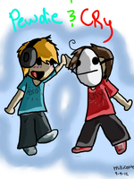 Pewdie and cry by Millicente