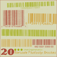barcode brushes by chokingonstatic