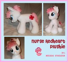 Nurse Redheart Plushie by nooby-banana