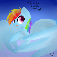 first digital painting: Take to the sky by Bolt-Foxi