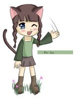 Chibi Cat Girl - For Josi by Budbud225
