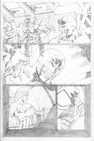 Hawk and Dove Page 05 by SeanLeeArt