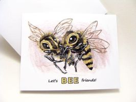 Let's BEE Friends - Valentine Card by sobeyondthis