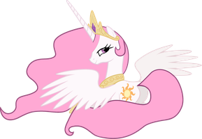 Celestia with Pink Mane by PrincessMedley13