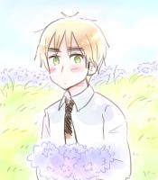 England Holding Flowers by A-Yuri