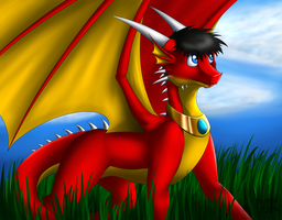 Tomek the Red Dragon by Tomek1000
