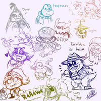 TTYD Character Doodles by SsKingdomsFury