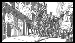 TMNT Chinatown street by Solblight