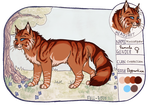 Russetpaw character sheet by Wazilikie